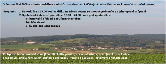 pozvánka na oslavu 600. výročí obce